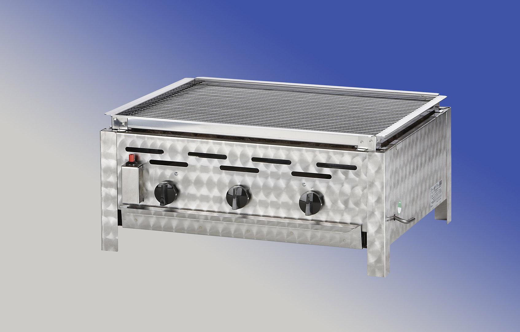 Bräter Für Gasgrill : Pag l gastronomie bräter flammig mit lavasteinaufsatz