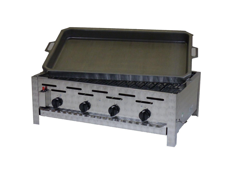 pag4k gastronomie br ter 4 flammig mit grillrost und stahlblechpfanne. Black Bedroom Furniture Sets. Home Design Ideas